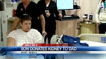 Son donates kidney to dad