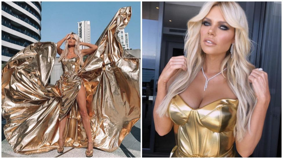 Sophie Monk turns up the heat in show-stopping golden Logies gown