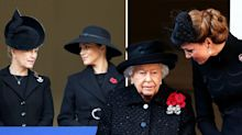 Why Meghan and Kate were on separate balconies on Remembrance Sunday