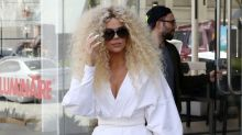Khloe Kardashian Is Still Wearing Her Big Curly Wig a Day After Diana Ross' Birthday Party