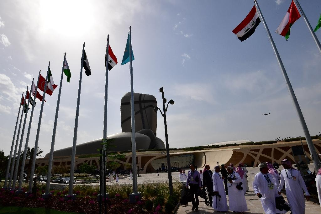 A general view of the Ithra center during the 28th summit of the Arab League in Dhahran in Eastern Province, Saudi Arabia on April 15, 2018 (AFP Photo/STR)