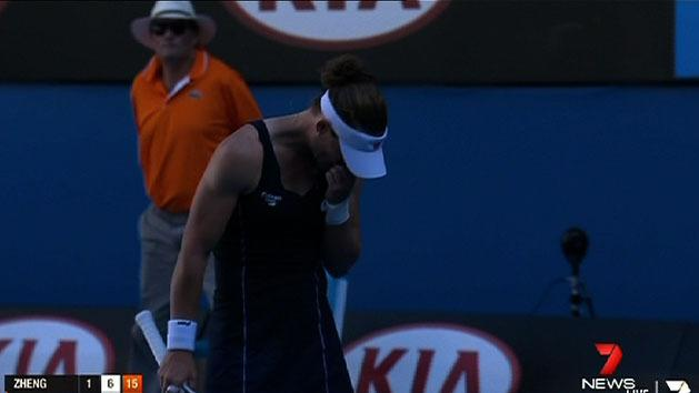 Stosur admits to choking in second round