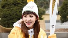 [MD PHOTO]韓國女歌手 Sandara京畿道參加冬奧會火炬傳遞