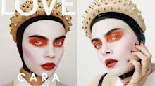 Heavily made-up Cara Delevingne almost unrecognisable on magazine cover