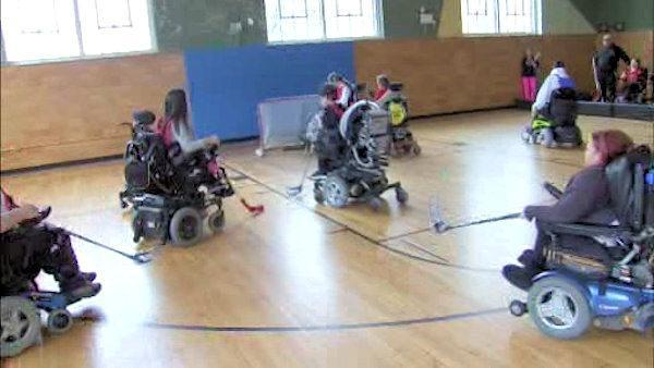 Courage and power on Phila. wheelchair hockey team