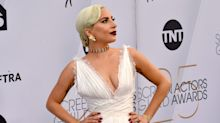 Lady Gaga Goes Angelic White In Plunging Gown On SAG Awards Red Carpet