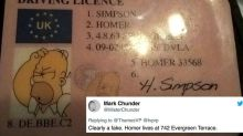 Someone actually handed the police a fake ID featuring Homer Simpson
