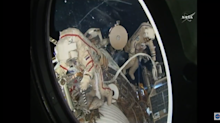 Spacewalking Cosmonauts Toss Tiny Satellites From Space Station