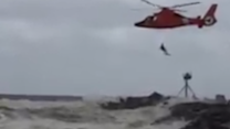 Coast Guard Rescues Man Off Jersey Shore During Nor'easter
