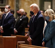Joe Biden attends Mass at Cathedral of St. Matthew, site of JFK funeral and iconic image