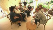 Prince William and Kate meet care home residents