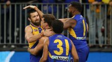 Eagle Josh Kennedy says pass travelled 15m