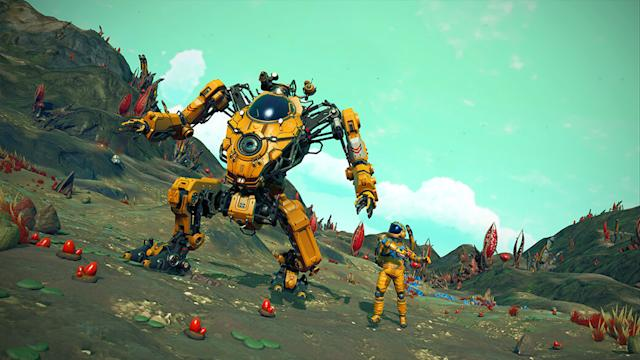 'No Man's Sky' update adds giant mechs with jetpacks