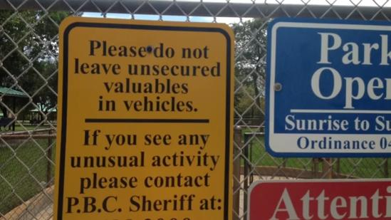 Police: Don't leave valuables in vehicles at dog park