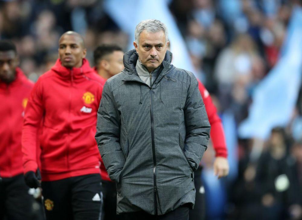 Jose Mourinho looks on