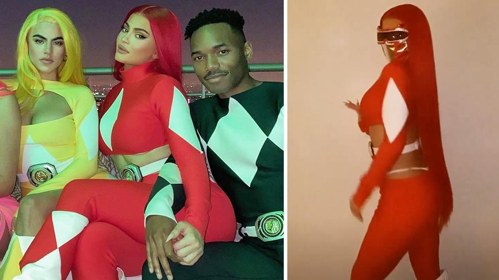 Kylie Jenner stuns as a sexy Power Ranger for Halloween 2020