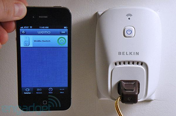Belkin WeMo Switch and Motion home automation system for iOS hands-on (video)