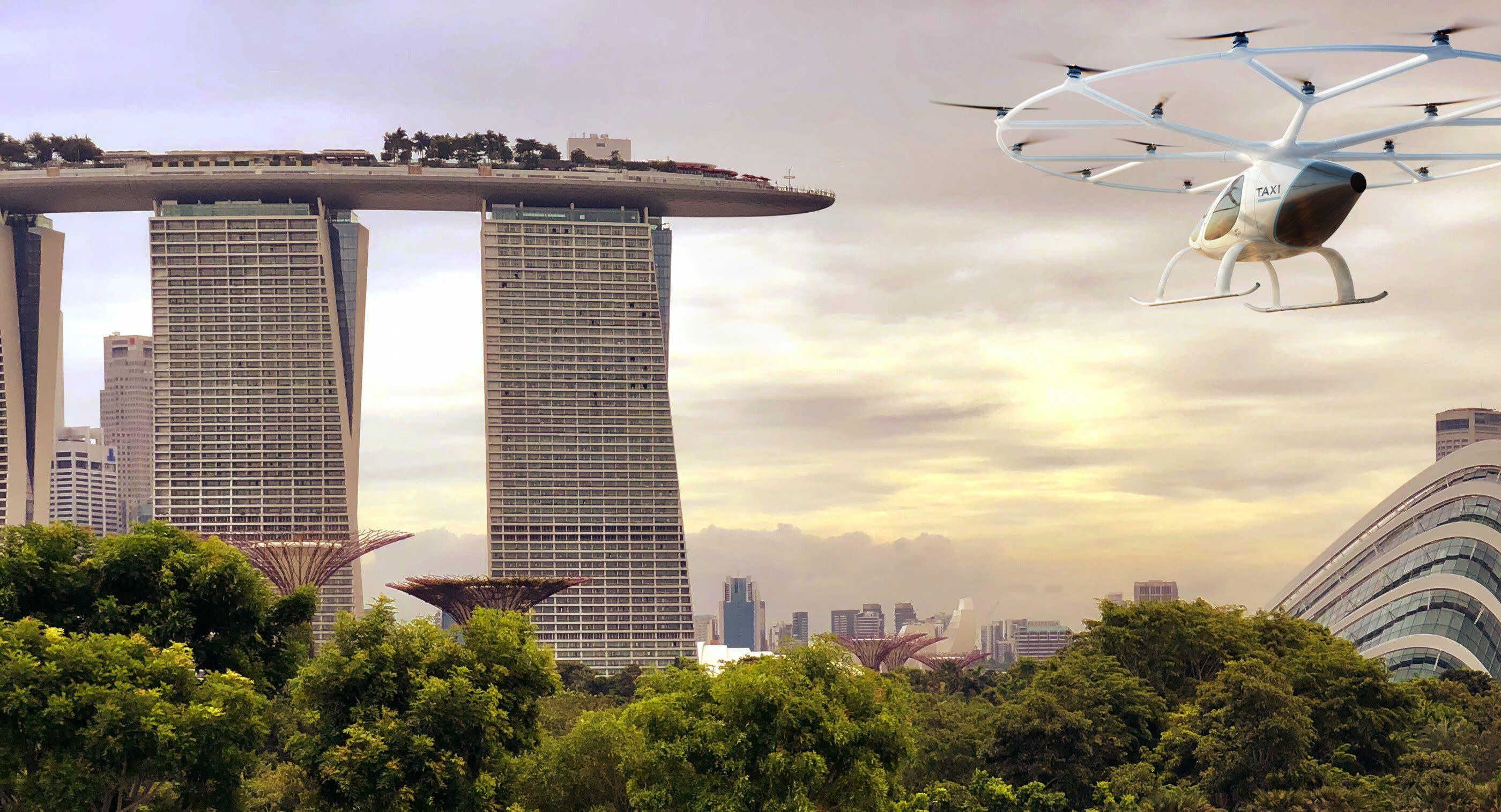 Flying taxi startups target Asia debut using European technology