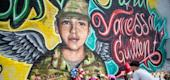 Memorial to Army Spc. Vanessa Guillén. (NBC News)