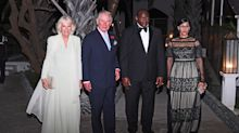 Camilla, Duchess of Cornwall wears £38,000 earrings for black-tie dinner in The Gambia