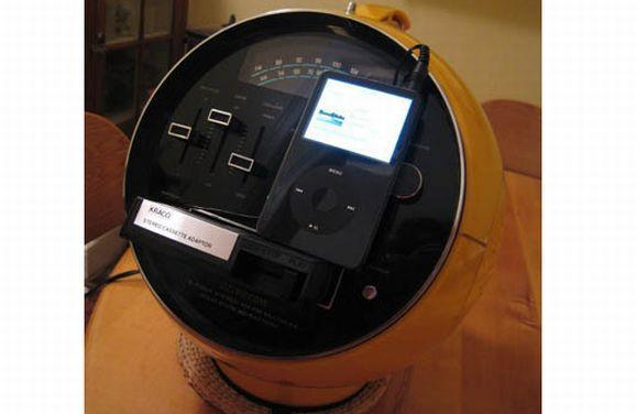 How to turn an 8-track into a speaker dock