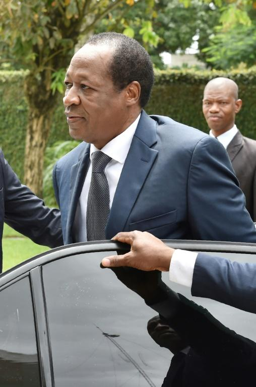 Blaise Compaore was ousted from the presidency in 2014 and now lives in exile in Ivory Coast (AFP Photo/ISSOUF SANOGO)
