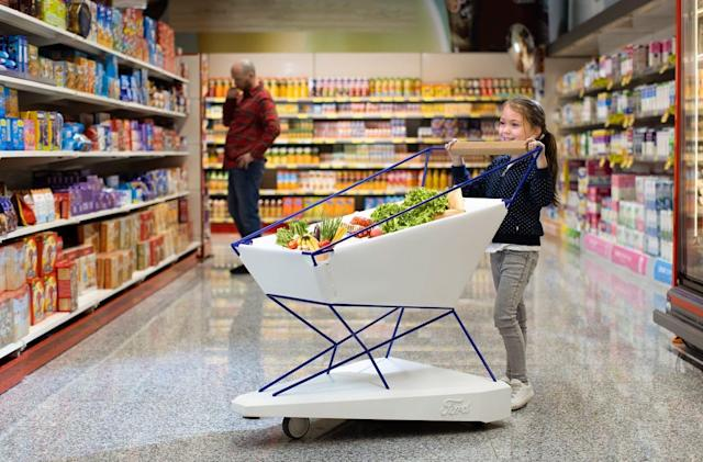 Ford's futuristic shopping cart can brake on its own