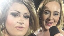 Adele invites drag doppelgänger on stage for a sing-along