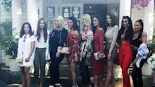 England WAGs head out for a girls dinner ahead in Russia, but who's who?