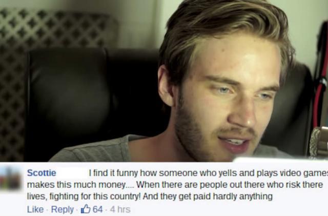 YouTube millionaire PewDiePie responds to his haters
