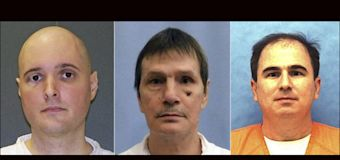 One execution goes forward, two others halted