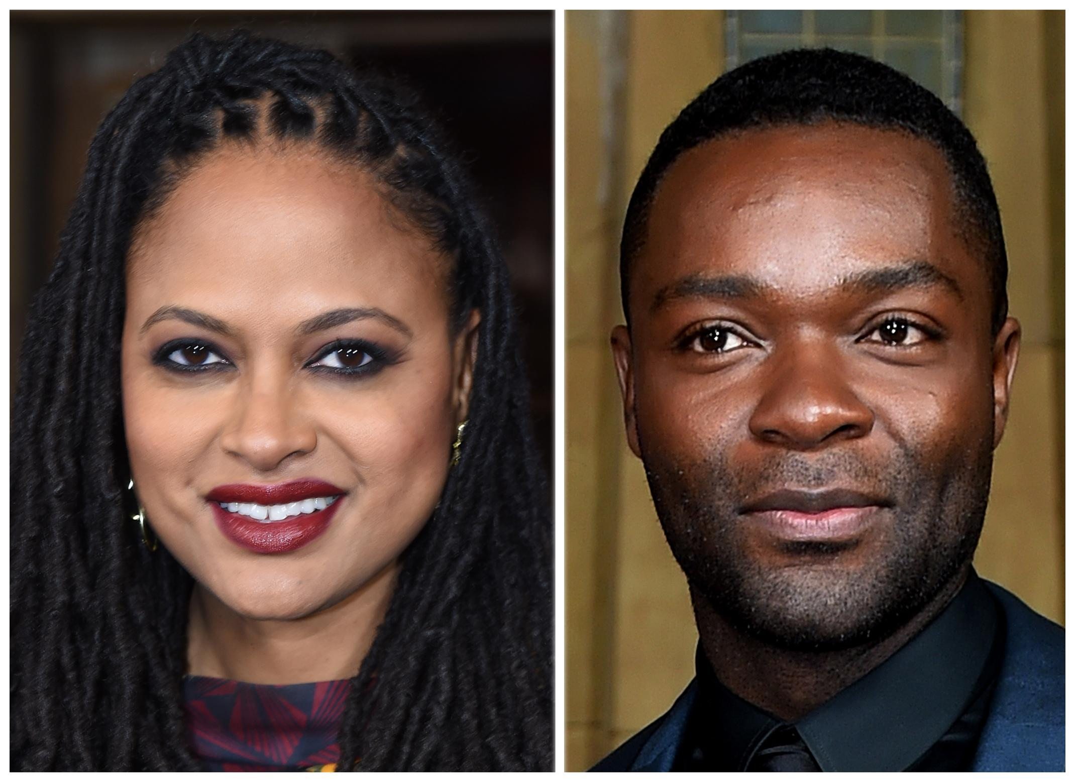 "Director Ava DuVernay (L) and actor David Oyelowo at the ""Selma"" screening during AFI FEST at the Egyptian Theatre in Hollywood (AFP Photo/Mark Ralston)"