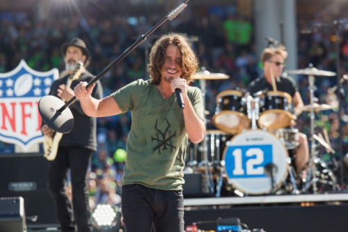 Chris Cornell and Soundgarden play before the Seahawks' 2014 season opener. (Getty Images)