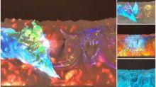 【有片】「札幌雪まつり」《FF XIV》表演 超靚燈效fans必睇