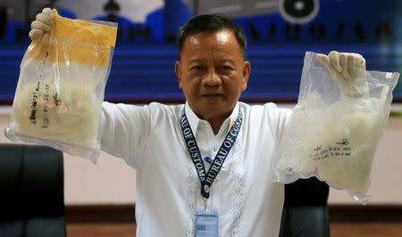 Philippines' Duterte sacks all top customs officials over drugs