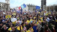 In pictures: Hundreds of thousands of people march in London demanding final say on Brexit