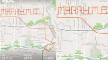 Man proposes to girlfriend by spelling out 'Marry Me' on cycling route