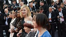 Female Stars Protested Gender Inequality At Cannes