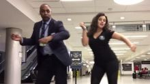 Woman stranded at airport goes viral after making hilarious Lionel Richie dance video