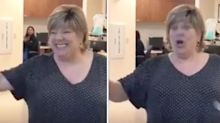 Woman who beat cancer so excited she broke 'cancer-free' bell