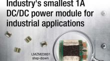 Industry's smallest 36-V, 1-A DC/DC step-down power module shrinks board space by up to 58 percent