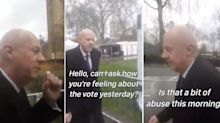 Damian Green calls anti-Brexit protester a 'w***ker' for shouting over interview