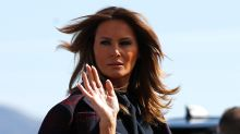 Melania Trump Takes Las Vegas in Spike Heels and the Chicest Dress