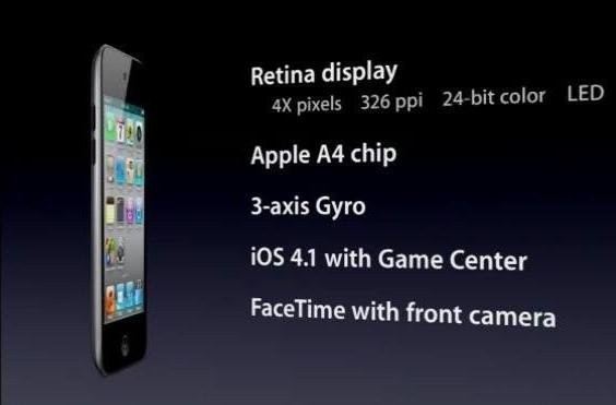 Apple introduces 4th gen iPod touch with camera