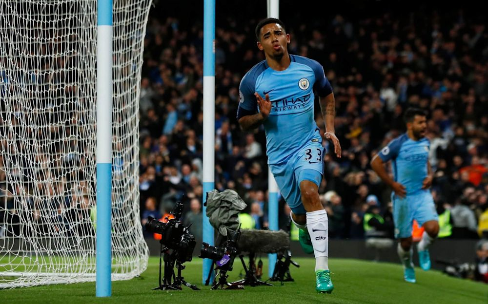 Gabriel Jesus made a huge impact when he returned from injury against United - REUTERS