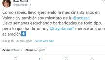 Una médica se hace popular tras compartir una serie de datos que contradicen las alabanzas de Álvarez de Toledo a la sanidad madrileña
