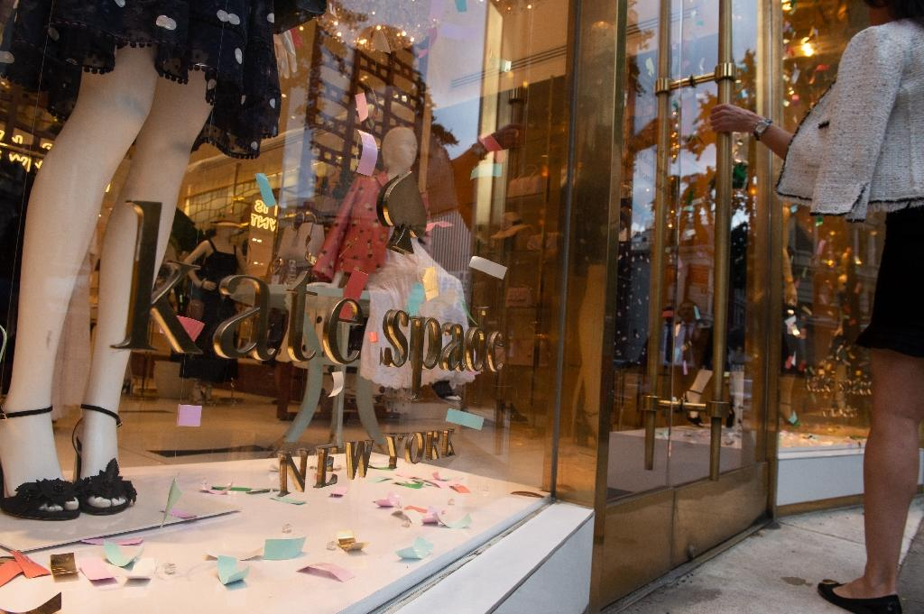 Kate Spade was no longer directly associated with management of the company bearing her name, one of whose boutiques is pictured in New York (AFP Photo/Bryan R. Smith)