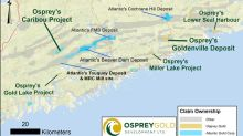 Osprey Provides Update on Nova Scotia Gold Properties and Three Priority Drill Targets