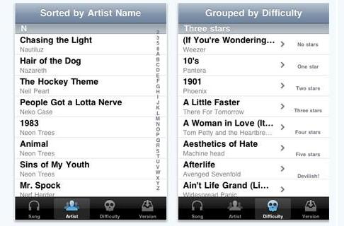 Unofficial Rock Band catalog search app arrives on iPhone
