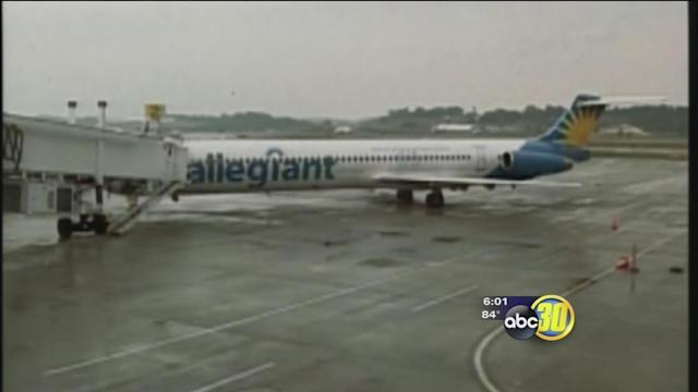 Allegiant Air inspects emergency chutes